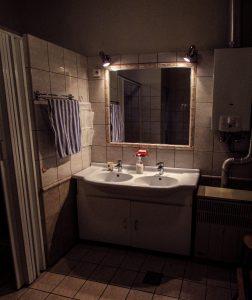 a Vendég-lak első fürdőszobája